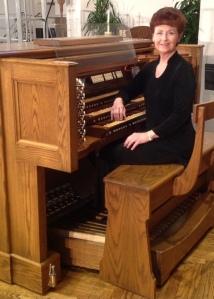 Linda Fern Fay - at organ console
